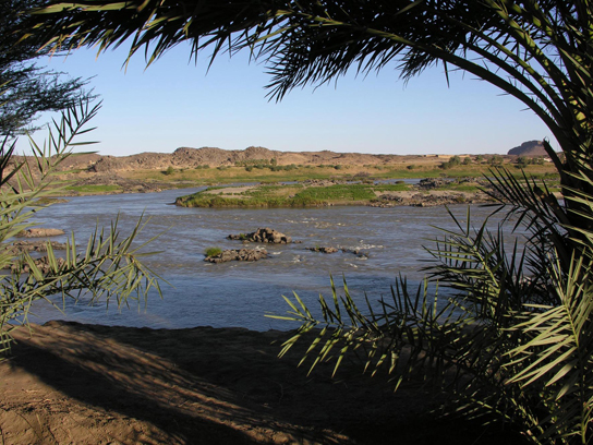 View of the Nile, Fourth Cataract region, before the building of the dam. Photo © Derek Welsby