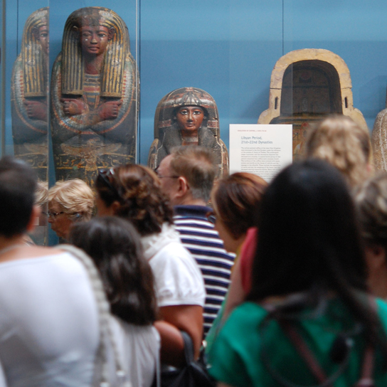 Inside Room 62, Egyptian death and afterlife: mummies. The Roxie Walker Gallery