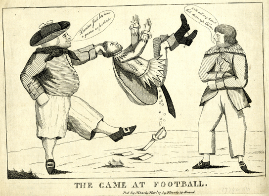 The game at Football, satirical print