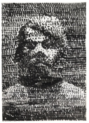 Ohne Titel (Selbstportrat), ('Untitled (Self-portrait)'), 1975, A R Penck (b.1939), grey and black ink wash on paper. Presented to the British Museum by Count Christian Duerckheim © A.R. Penck / DACS 2013