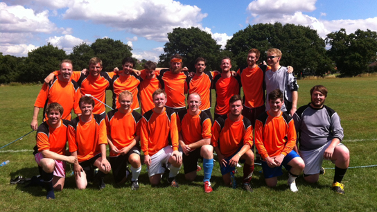 British Museum Football Club 2013 (author centre, back row)