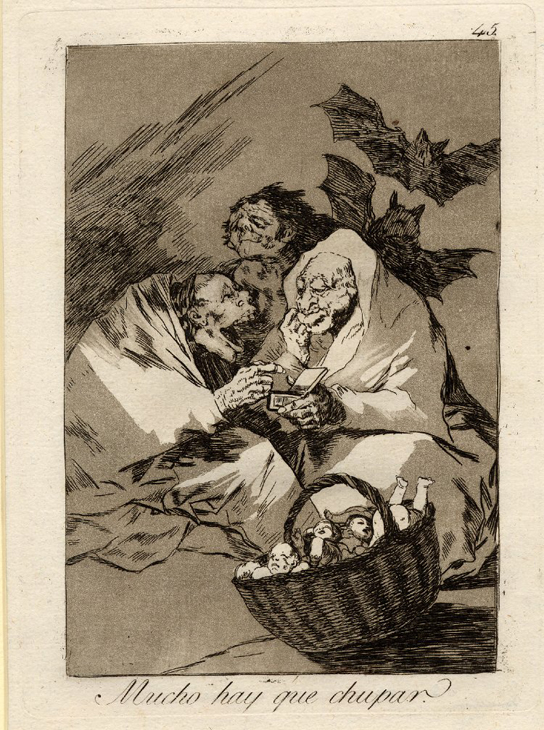 Francisco Goya (1746-1828), 'There is plenty to suck', 1799. Etching and burnished acquatint. 1975,1025.128 (Cat.no 11)