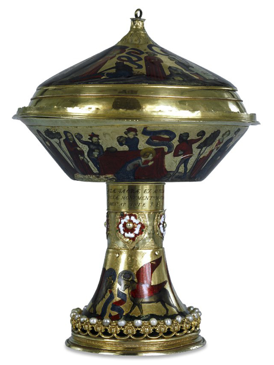 The Royal Gold Cup. Gold and enamel, France, 1370-1380. (1892,0501.1)