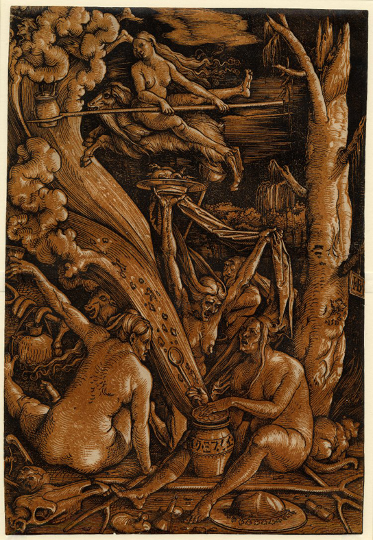 Hans Baldung (c.1484/5-1545), Witches' Sabbath,  1510.