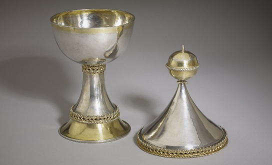 The Lacock Cup. Plain and gilded silver, England, 15th century. 2014,8002.1