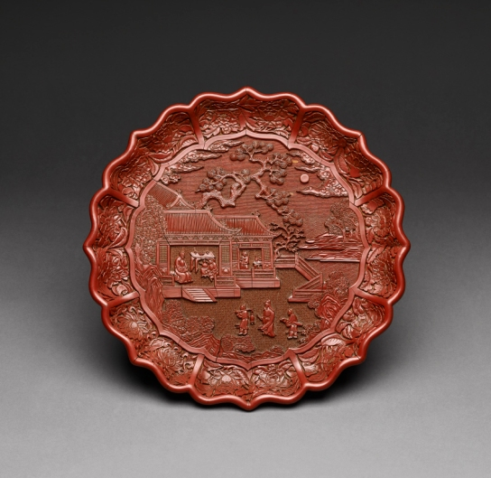 Carved lacquer dish Yongle Period, Ming Dynasty, 1403-1424. BM 1974,0226.20