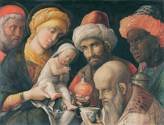 Adoration of the Magi by Andrea Mantegna, Italy, c.1495 - 1505 © The J. Paul Getty Museum, Los Angeles