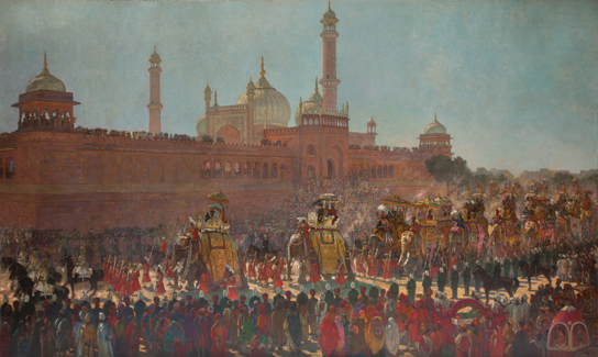 Roderick Dempster MacKenzie, The State Entry into Delhi, 1907, Oil on canvas. © Bristol Museum and Art Gallery
