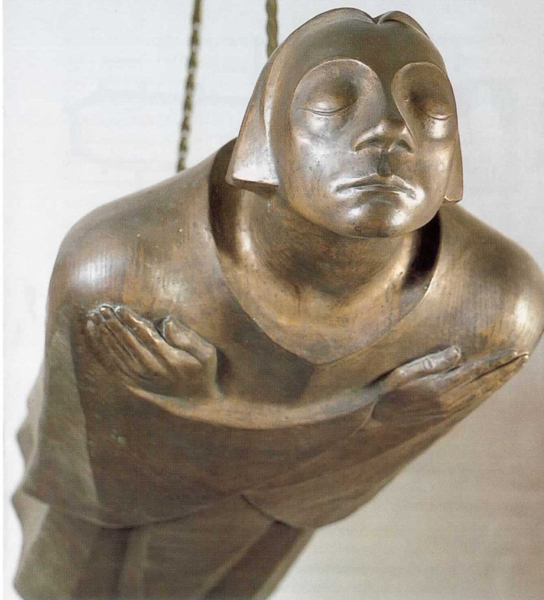 Der Schwebende ('The Hovering'), by Ernst Barlach, Güstrow Cathedral.