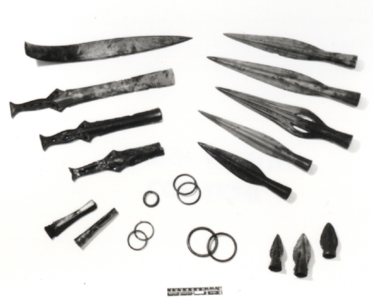Part of the Blackmoor Hoard in the British Museum collection