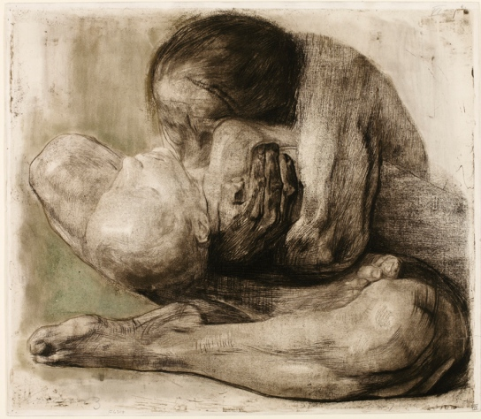 Käthe Kollwitz, Frau mit totem Kind (Woman with dead child)