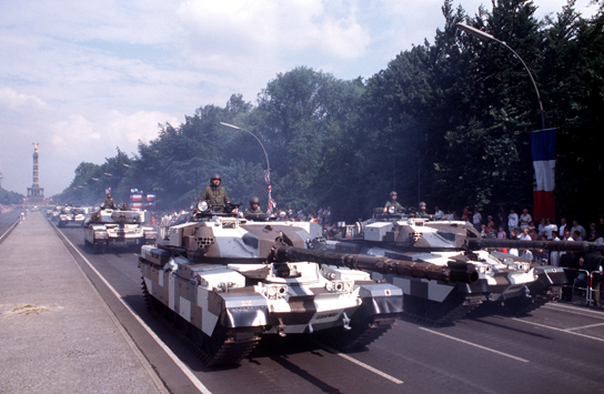 British Chieftain tanks during the Farewell Parade on Strasse des 17. Juni, Berlin, 18 June 1994. Photo courtesy of the U.S. Department of Defense and Imke Paust