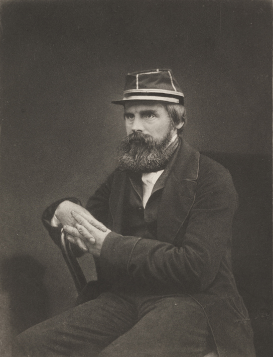 Collotype print photograph of Roger Fenton, taken by an unknown photographer