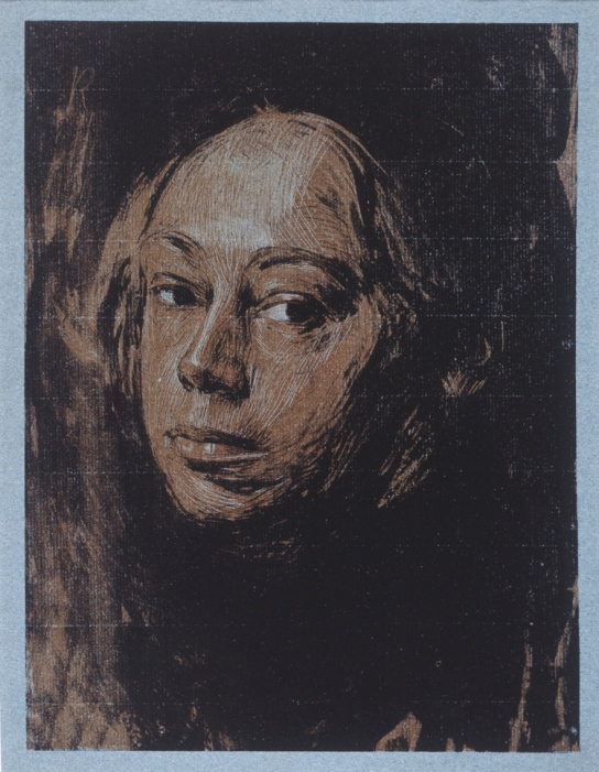 Käthe Kollwitz, Selbstbildnis nach links (Self-portrait facing left), 1901 © DACS, 2014