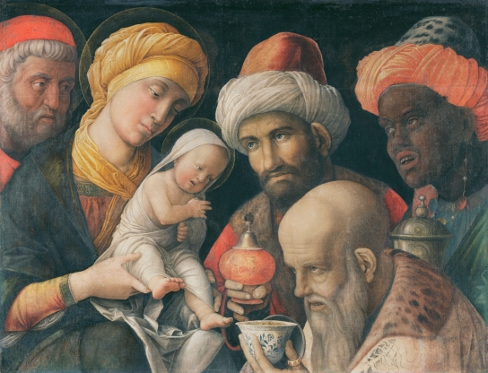 Andrea Mantegna (c. 1431–1506), Adoration of the Magi, c. 1495–1505, Distemper on linen. © The J. Paul Getty Museum, Los Angeles (85.PA.417)