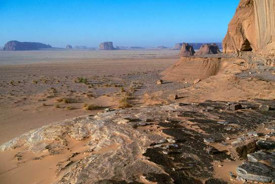 The Ennedi Plateau cliffs