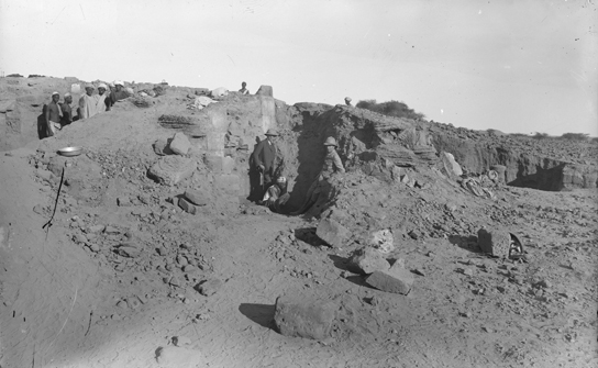 Remains of the building where the Meroë Head was discovered at the beginning of the 1910 season. © The Garstang Museum of Archaeology, University of Liverpool