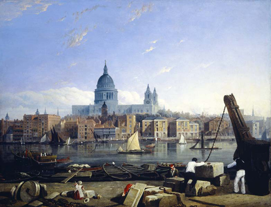 The City from Bankside, Thomas Richardson, oil on canvas, c. 1816-25, © Museum of London (95.185)