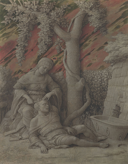 Andrea Mantegna, Samson and Delilah, c. 1500 © National Gallery London (NG1145)