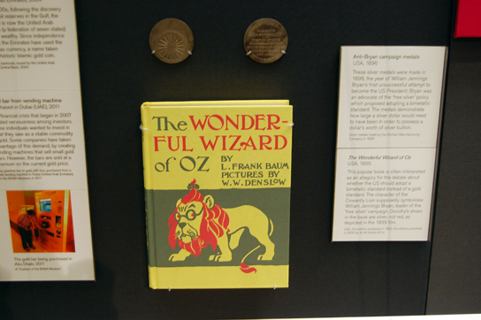 The Wonderful Wizard of Oz in the Citi Money Gallery.