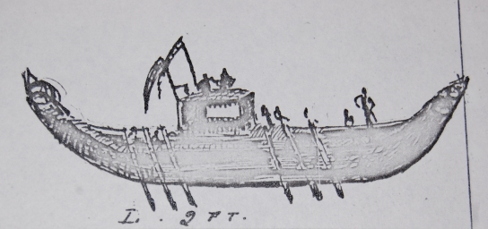 Drawing of the boat found in the Museum's records