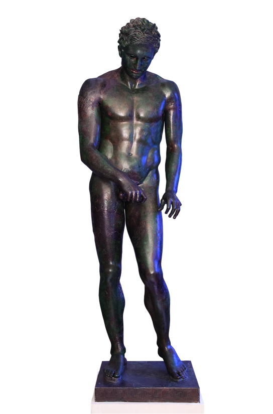Bronze statue of an Apoxyomenos, Greek, about 300 BC. Ministry of Culture, Croatia. Image: Mali Losinj Tourist Board / photography by Mr Marko Vrdoljak