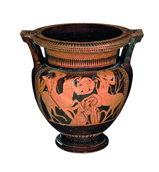 Red-figured mixing-bowl (column-krater). Greek, made in Athens, 480–460 BC, attributed to the Pan Painter. British Museum, London 1846,0925.6
