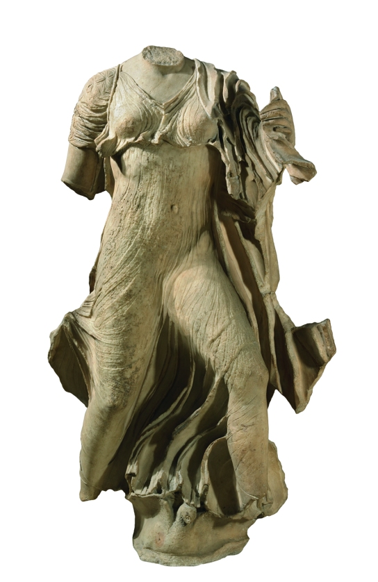 Marble statue of a Nereid, from the Nereid monument. Lycian, about 390–380 BC, from Xanthos, south-western Turkey. British Museum, London 1848,1020.81