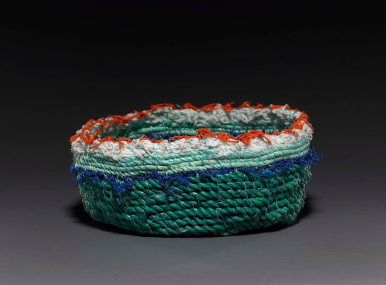 Ghost net basket, 2010. Mahnah Angela Torenbeek (Reproduced by permission of the artist on behalf of the Rebecca Hossack Gallery)