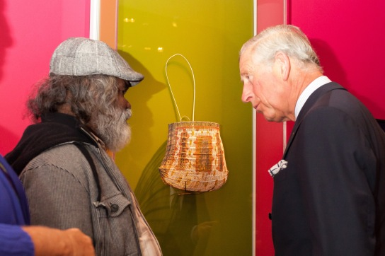 Abe Muriata and HRH Prince Charles during the opening reception of the exhibition. (Photo: Benedict Johnson)
