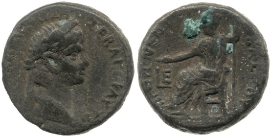 The earliest dated coin in the hoard (Year 5: 58/59 AD), depicting Nero. British Museum 1914,0403.2