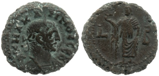 The latest dated coin in the hoard (Year 2: 283/4 AD), depicting Carinus. British Museum 1914,0403.46