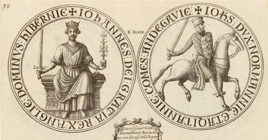 Wenceslas Hollar print of the seal of King John. British Museum 1856,0712.791