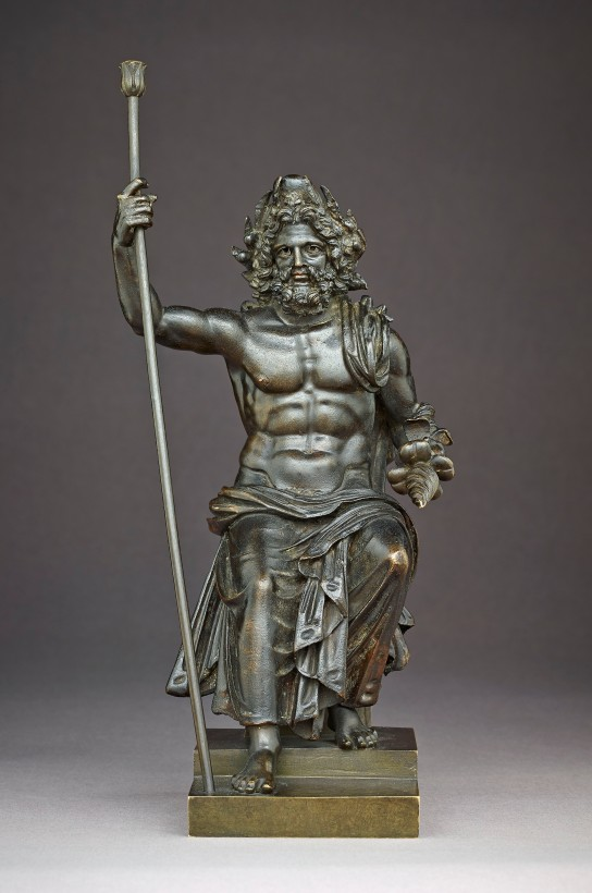 Bronze figure of Zeus. British Museum 1865,0103.36