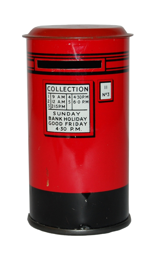 National Savings money box selected for the House of Memories app. British Museum