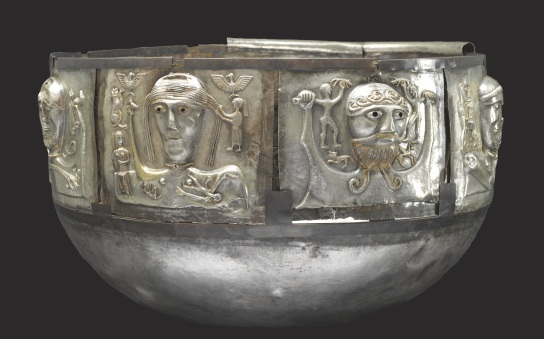 Cauldron. Silver, partially gilded, 100 BC–AD 1. Gudestrup, Denmark. Diam. 69 cm; H. 42 cm. (c) The National Museum of Denmark.