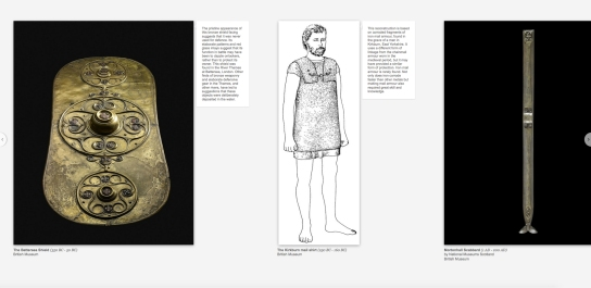 Virtual exhibits: snapshots of a specially curated tour of Celtic objects from museums across the UK (above) and